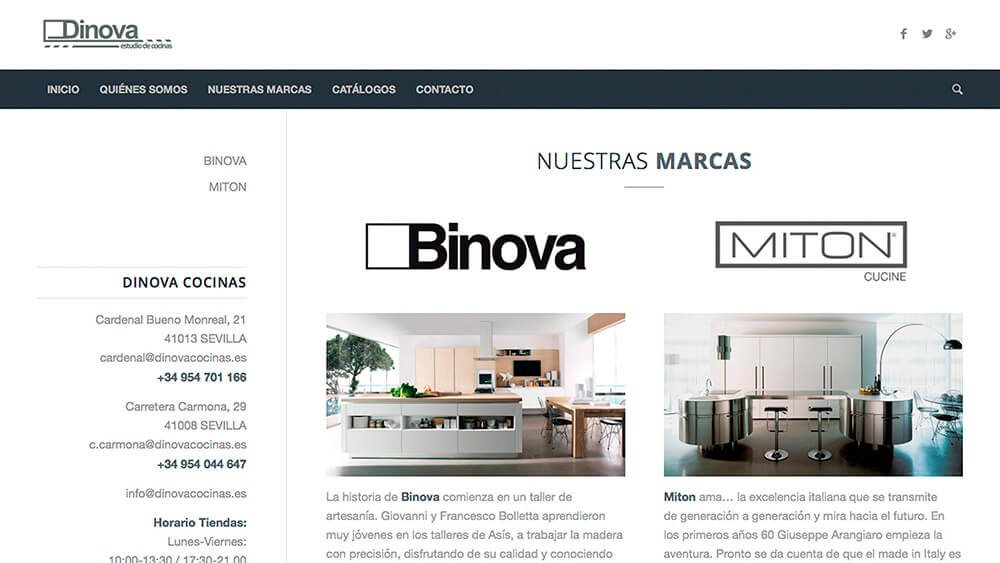 Diseño web Dinova Cocinas | Marketing online - photo#32
