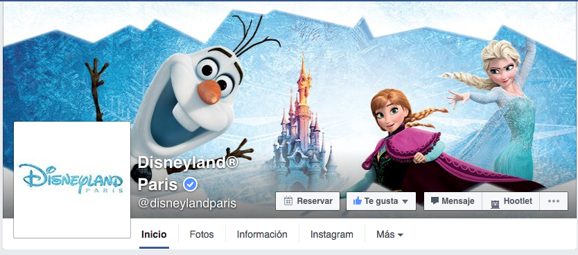Página de Facebook Disney