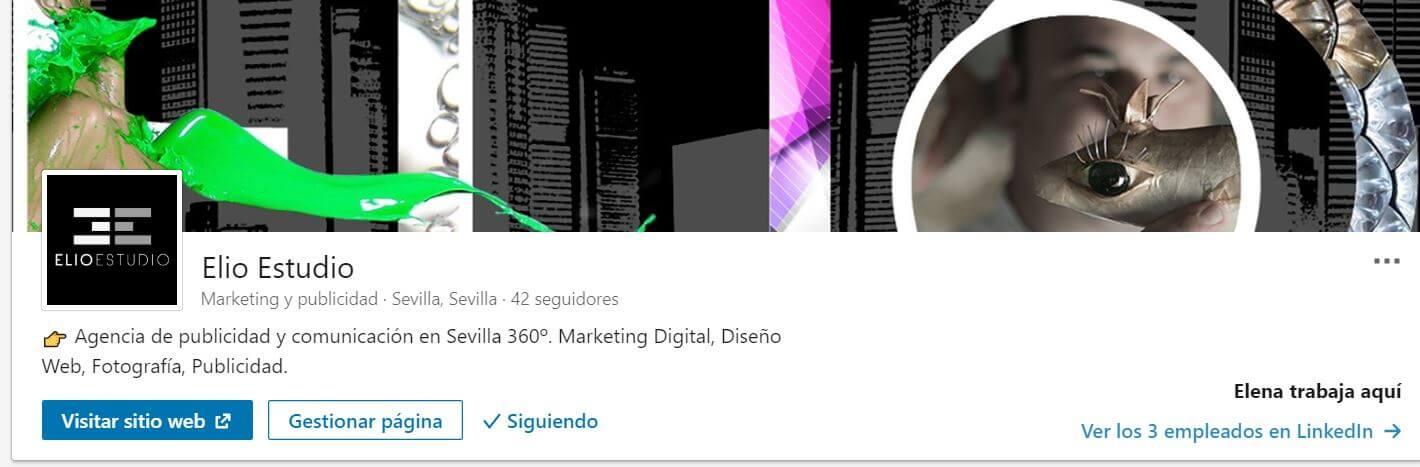 LinkedIn para empresas Elio Estudio