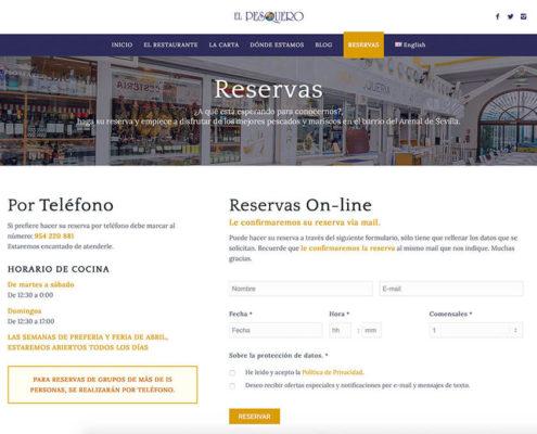 Diseño web para restaurante en Sevilla