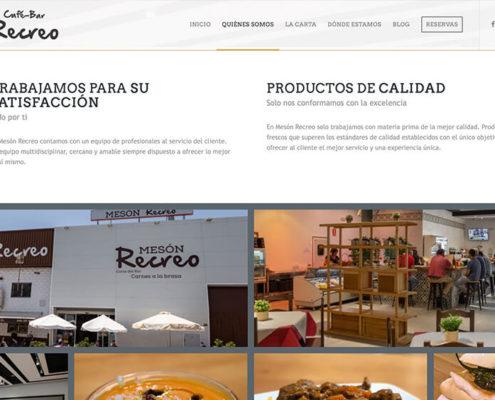 Diseño web Mesón Recreo