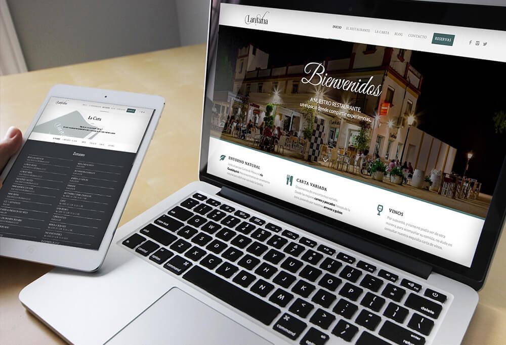 Diseño web Restaurante Lantana