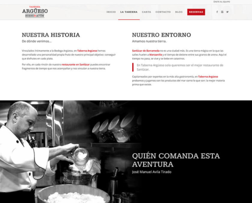 Taberna Argüeso, diseño web y marketing online