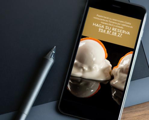 Sasha Restaurante, diseño web y marketing digital