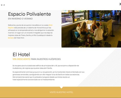 Diseño web y marketing digital Terraza Kivir Skyline