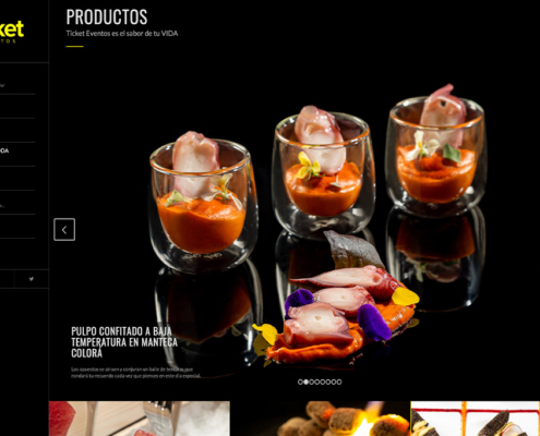 Diseño web y marketing online de Ticket Eventos Catering
