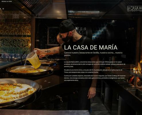 Diseño web de La Casa de María restaurante