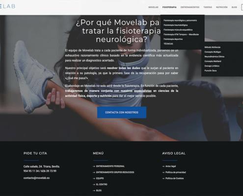 Diseño web Movelab