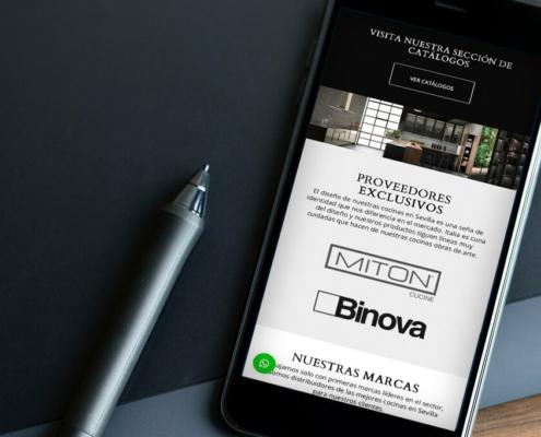 Diseño web de Scava estudio de cocina