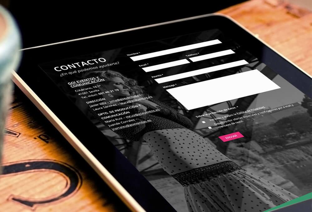 Diseño web de Somos Abril